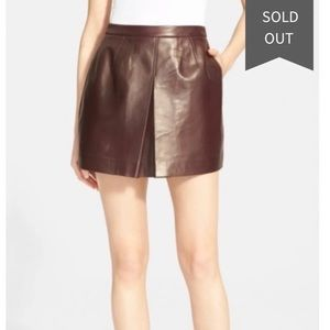 Vince Camuto Leather Skirt